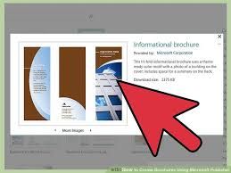How To Make Your Own Brochure On Microsoft Word How To Create Brochures Using Microsoft Publisher 11 Steps