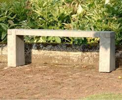 modern sandstone garden bench in