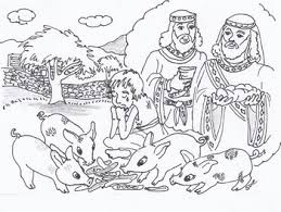 the prodigal son coloring pages. Perfect Pages To The Prodigal Son Coloring Pages I