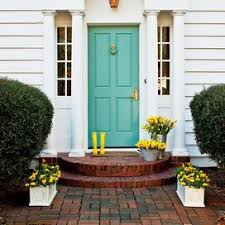 Since that time i've received the most amazing emails and comments of how this door has inspired others to take the challenge of a bright and colorful entrance for their homes. Bright And Colorful Shutters That Add Instant Curb Appeal Southern Living