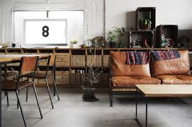 industrial home furniture. Modern Industrial Living/Dining Room Home Furniture