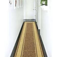 10 foot runner rugs collection contemporary bordered design brown 3 ft x non skid feet long
