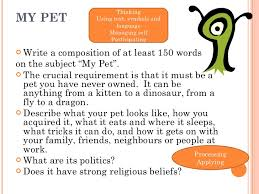 words essay for kids on my classroom essay on my pet for class 3rd