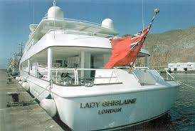 Image result for Lady Ghislaine Trump yacht