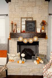 Rustic Farmhouse Fall Fireplace Decor
