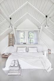 contemporary attic bedroom ideas displaying cool. A Pure White Attic Bedroom With An Arched Ceiling And Two Windows Above The Bed. Designed By Http://jamkolektyw.com/ Contemporary Ideas Displaying Cool I