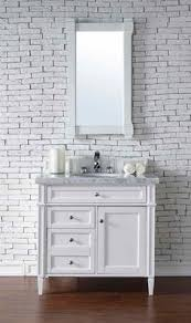 james martin furniture brittany 36 cote white single vanity with 4 cm galala beige