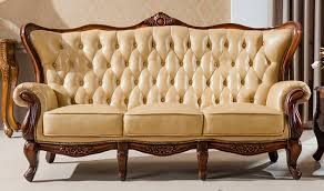 china furniture whole hand carving wood leather sofa set larger image