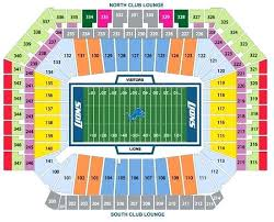 Lions Stadium Seating Chart Detroit Lions Seating The904 Co