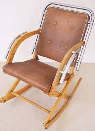 Modern Rocking Chair Canadian Mid Century Modern Folding Rocking Chair In Blonde Wood