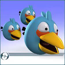 Angry Birds (Blue) 3D Model $30 - .obj .max .fbx .3ds - Free3D