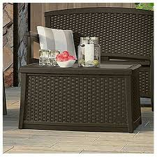 suncast elements coffee table with storage all weather lightweight resin for for