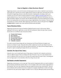 How to Register a New Business Name? by Register Company Forms - issuu