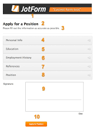 form for job job application form 101 jotform
