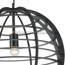 Grote Zwarte Metalen Draadlamp ø 50 Cm