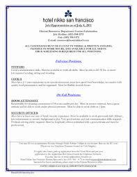 Sample Resume For Hospitality Sample Resume Format For Hotel Industry Awesome Classy Resume 18
