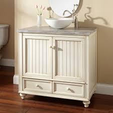 White Bathroom Vanity Cabinet 36 Schaefer Creamy White Vessel Sink Vanity Bathroom Vanities