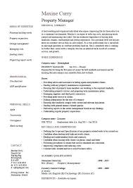 Commercial Property Manager Duties Property Manager Resume Sample