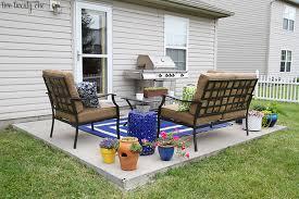 concrete slab patio makeover. Plain Patio Intended Concrete Slab Patio Makeover