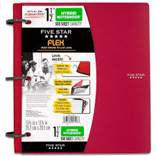 2 inch notebooks amazon com five star flex notebinder 1 5 inch capacity 11 5 x