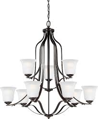 emmons nine light chandelier in heirloom bronze upc 785652001109