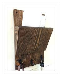 rustic mail organizer and key rack wall mounted holder