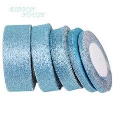 (<b>25 yards</b>/<b>lot</b>) Sky Blue polyester ribbon Christmas packaging ribbon ...