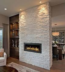 white stacked stone fireplace living room modern gray stacked stone fireplace with tv corner