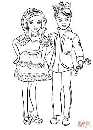 Coloring Pages Descendants Ben And Mal Coloring Page Free
