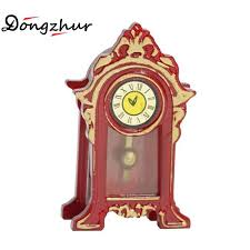dongzhur dollhouse miniatures 1 12 accessories vintage mini clock suitable for fireplace top of the cabinet doll house furniture wooden dollhouses for girls