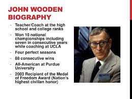 Coach Wooden's Leadership Game Plan For Success PPT Leadership game plan for success The Pyramid of Success 83