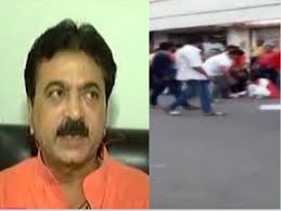 Shocking Video Bjp Mla Balram Thawani Caught On Camera Kicking