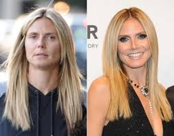 hottest celebrities without make up beyonce 10 32 supermodel and project runway host heidi klum is