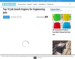 top job search engines for engineering jobs alumni net 158 chemical engineering jobs and opportunities in civil engineering engineering jobs by specialty location and targeted filters such