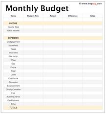 Budget Sheet Free Printable Free Printable Budget Worksheet Template Spreadsheet
