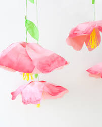 Paper Flower Mobiles Giant Hanging Paper Flowers
