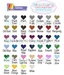Siser Easyweed Htv Color Chart Glitter Htv Color Chart Siser Easyweed Color Chart By