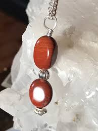 red jasper 8mm x 11mm stones sterling silver