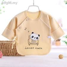 ☁Newborn monk clothes, pure cotton tops, autumn half-back baby 0 spring,  summer, and winter models for 3 months | Shopee Malaysia