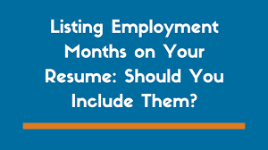 Need To Do A Resume Do You Need To Include Months On A Resume Examples