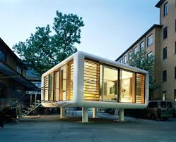 prefab office space. Prefab Homes With Flat Roof Design Architecture Toobe8 Futuristic Portable Eco Friendly Floating Home Loftcube And Office Space