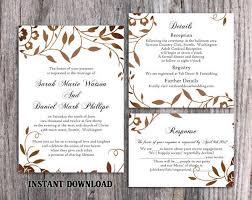 Printable Wedding Invitation Wedding Invitation Template Download Printable Wedding Invitation