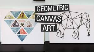 Canvas Art Diy Geometric Canvas Art Youtube