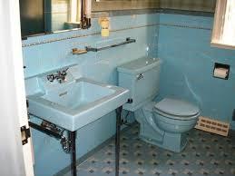 retrorenovation blue 50s bathroom renovation
