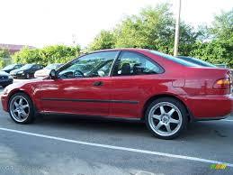 1995 Milano Red Honda Civic DX Coupe #15712867 Photo #2   GTCarLot ...