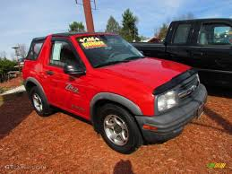 2001 Wildfire Red Chevrolet Tracker ZR2 Soft Top 4WD #57611086 ...
