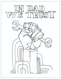 free printable father s day coloring page in dad we trust