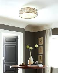 low ceiling lighting image of round drum shade light set 2 adams brushed nickel white lights