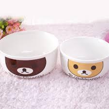 Cartoon Dog Bowl Cute Bear Ceramic Dog Bowls & Water Feeder