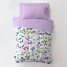 wildflower garden toddler bedding